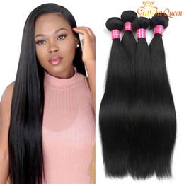 Wholesale Wholesale Black Hair Weave - 4 Bundles Malaysian Virgin Hair Straight Human Hair Extensions Mink Malaysian peruvian brazilian Straight Hair Bundles Natural Black