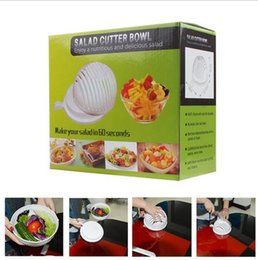 Wholesale Easy Chopper - 60 Second Salad Cutter Bowl Easy Salad Fruit Vegetable Chopper Washer And Cutter Quick Salad Maker Chopper OOA1392