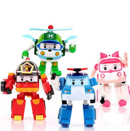 Wholesale Yiwu Gift Boxes - Robocar Poli Toy Transformation Robot Car Toys Poli Robocar Korea Toys Best Gifts For Kids 4pcs set Without Box