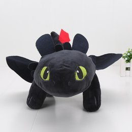 Wholesale Toothless Dragon Soft Toy - 40cm 15.8'' How to Train Your Dragon Toothless Night Fury Plush Doll Soft Stuffed Toy Big Size Doll