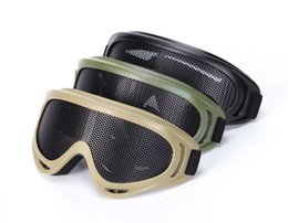 Wholesale Tactical Glasses Nets - Outdoors Army Airsoft Goggles Tactical Shock Resistance Eyes Sports Metal Mesh Net Shooting Glasses For Airsoft