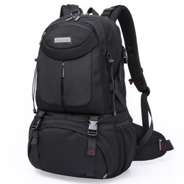 Wholesale Laptop Bags 17 Black - Wholesale- 2017 New Brand Waterproof Durable Men Travel Backpack 17 Laptop Shoulder Bag Women School Backpacks 50L Large Capacity Black
