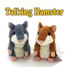 2019 hamster brinquedo falando para crianças Lindo Falando Hamster Toy Plush Registro de Som Falando 15 cm Hamster Falando Brinquedos Educativos para Crianças Caçoa o Presente de Natal desconto hamster brinquedo falando para crianças