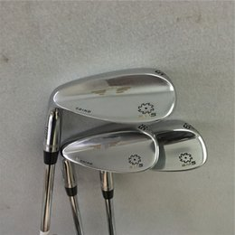 Wholesale Golf Clubs Left Hand - Left handed Sm5 Golf Wedges Silver 52 56 60 With steel shaft Golf clubs SM5 Wedges top quality