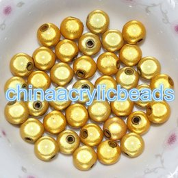 Wholesale 8mm Multi Round Bead - 200Pcs Round Acrylic Miracle 8MM Loose Spacer Beads 3D Illusion Plastic Round Beads Jewelry Making Findings Wholesale