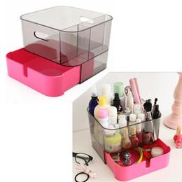 Wholesale Chest Box Storage - DIY Plastic Makeup Storage Display Box With Drawer Jewelry Chest Cosmetics Storage Case Holder Display Organizer