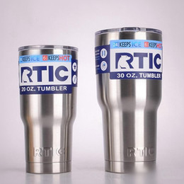 Wholesale RTIC Cups oz oz Large Capacity Mug Tumbler Car Beer Cups Stainless Steel Vacuum Double Vacuum Insulation Wall Water Cups OOA2114