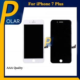 Wholesale Pc Display Panel - 5 PCS Sale For iPhone 7 Plus LCD iPhone LCD Display Touch Digitizer Complete Screen with Frame Full Assembly iPhone Screen Replacement