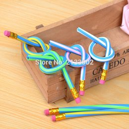 Wholesale Gift Set Stationery Red - 6 PCS Creative Flexible Magic Soft Pencil Stationery School Supplies As Gift Reward For Kids