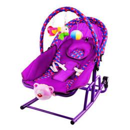Wholesale Baby Portable Rocker - Fashion Baby Rocker Music Vibrating Rocking Chair Toddler Adjustable Bouncer Seat Swing Rocking Crib chaise longue VT0593