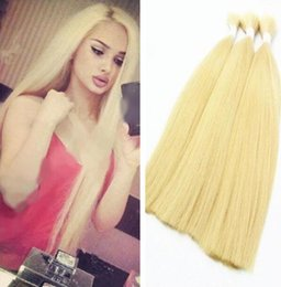 Cheap bulk blonde 613 hair extensions free shipping bulk blonde 613 blonde hair bulk straight indian bulk hair extensions 14 32 human pmusecretfo Gallery