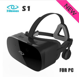 Wholesale Lens For Headset - 2017 New 3 Glasses S1 120Hz 2880 x 1440P FOV110 Anti Blu-ray Lens 10ms Immersive S1 3D VR Virtual Reality Glasses Headset for PC