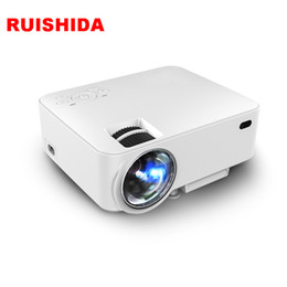 Wholesale Wifi Online - Wholesale- 100 Screen Projector Home LED Outdoor Wifi Android Online movie and television Built-in blue-tooth4.0