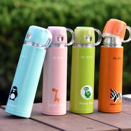 Wholesale Insulated Flasks - Creative Cartoon Water Cup Stainless Steel Thermos Vacuum Flasks Office Insulated Cup Lovely Water Bottle Student Gift