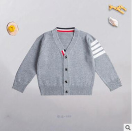 Wholesale Mixed Kids Clothes - Children Baby Boys Fall Winter Fashion Cardigan Sweater V Neck Button Sweater Cotton Winter Children Clothing Kid Knitted Cardigan 1069