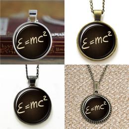 Wholesale halloween mass - 10pcs Albert Einstein E=mc2 Einstein mass energy equation Necklace keyring bookmark cufflink earring bracelet