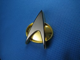 Wholesale Figure Star Trek - Star Trek TNG Communicator Badge Zinc Alloy Emblem Toy Figure Cosplay