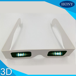 Wholesale Disposable Foldable - Wholesale- 50pcs lot 3D Gift!! Disposable 3d cardboard paper foldable diffraction glasses with Strong 13500 diffraction lens for fireworks