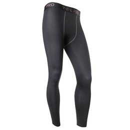 Wholesale Men S Under Wear - Wholesale-New Men's Compression Base Layer Pants Long Tight Under n wear Gear Bottom