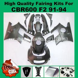 Wholesale 1994 Honda Fairing Body Kit - 9Gifts fairing body For HONDA CBR600 F2 91 92 93 94 CBR600RR F2 Black CBR600 F2 1991 1992 1993 1994 Fairing kits + tank cover