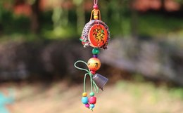 Wholesale Green Wooden Beads - 2017 new original design chinese style yunnan nationality handiwork article wooden beads pendant gift sacher windbell