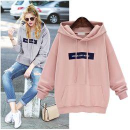 Wholesale Hoodies Big Size - Pink Loose Suits For Women Hoodies Women Tracksuit Big Size Jogging Femme Kawaii Hoodie Cute Sweat Femme Sweatshirt Plus Size Fashion Hoodie