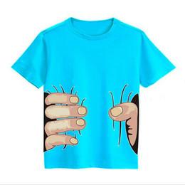 2019 tee shirt grande main De T-shirts Muchachas de la Camiseta Niños Camisetas T-shirt de la main Coge Usted de la grande main 3D par Novedad Camiseta Infantil T-shirts de l'alto d'Algonquin 2 promotion tee shirt grande main
