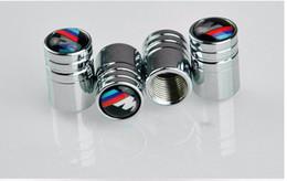 Wholesale Bmw E46 M3 Wheels - 4pcs lot Chrome Metal Car Wheel Tire Valve Wheel Bolt Caps For BMW E46 E52 E53 E60 E90 E91 E93 M3 M5 M6 X1 X3 X5 X6 F01 F30 F20 F10 F15 F13