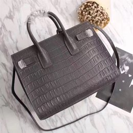Wholesale Designer Beach Totes - New Women genuine leather tote handbags clutch luxury brand shoulder bags designer famous beach bag messenger bolsa feminina bolsos mujer