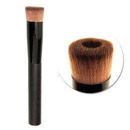 Wholesale Plastic Ships - Wholesale Hot Concave Liquid Powder Foundation Brush blush contour Makeup Cosmetic Tool Pinceaux Maquillage Free Shipping