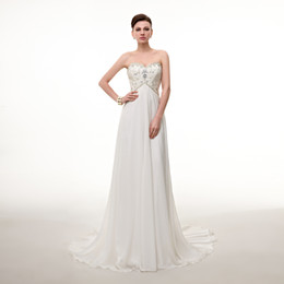 sexy backless beaded wedding dress with best reviews - Sexy Cheap Plus Size Wedding Dresses Sweetheart Pleats Appliqued Beaded Chiffon Beach Bridal Gown Vestidos de Novia In Stock