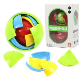 Wholesale Plastic Fans - 2017 new style Puzzle ball, 3D intelligence, fan palace toy, children puzzle, DIY intelligence development, assembling ball by dhl kids toys