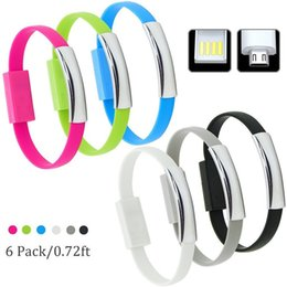 Wholesale Sharp Bracelets Wholesale - New Design Bracelet Data Micro USB Cable Charge Cord Short Wristband Charger Data Wire For Android Samsung S7 S6 edge Universal