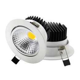 Wholesale Downlight Dimmable Driver - 9w 15w 20w led down light dimmable cob led recessed light downlight lamp warm nature cold white ac 110-240v + drivers