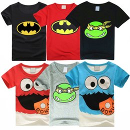 Wholesale Babies Clothes Shops - AbaoDo fashion spiderman kids T shirts 100% cotton baby boys tops tees summer short sleeve children clothing drop shopping