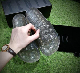 Wholesale Womens Bow Sandals - Real Summer Womens Jelly Slides Slippers With Box and Dust Bag VS Fenty Bow Sandals Rihanna Collection Shoes