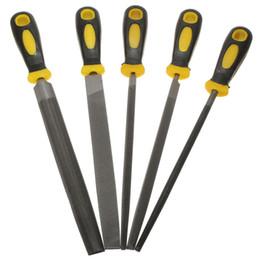 Conjuntos de aperto on-line-5Pcs 200mm Engenheiro Metal File Set Soft Grip Assorted Rasp Ferramenta