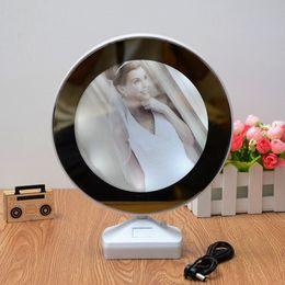Magia criativa 7 Polegada Multi função LED Luz Moldura Com Espelho Moldura de Casamento Do Casamento Art Home Decor de Fornecedores de molduras para casamentos