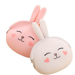 Wholesale Cute Girl Headphones - Wholesale- Redo va Candy Color Silicone 3D Cartoon Women Wallets Girls Coin Bags Children Cute Cartoon Mini Coin Purse Earphone Headphone