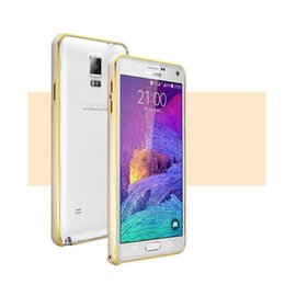 Wholesale Thin Aluminum Galaxy - Dual Color Aluminum Metal Bumper Case For GALAXY NOTE 5 Note5 Light Ultra Thin Frame Protective Cover DHL Wholesale