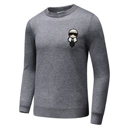 Wholesale Neck Ornament - 2017 early autumn gentleman cashmere sweater real cashmere sweater FD gentleman ornaments sweater black and gray color