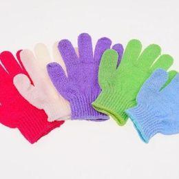 Wholesale Body Massage Goods - Wholesale- Good Quality Scrubber Skid resistance Body Massage Sponge Gloves Shower Exfoliating Bath Gloves color random
