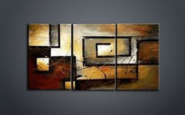 Wholesale Texture Wall Hand - Wall art 3 pieces combined painting Abstract decoration Home decoration painting Wall decoration art The thick bottom texture Hand art