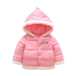 Wholesale Winter Clothes For Little Girls - Little Girl Jacket Baby Winter Warm Coat Children Clothes For Kids Girl Clothing Infant Thick Clothes 2017 Kids Jacket