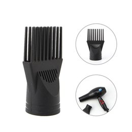 Wholesale Types Hair Dryers - 2017 New 1pc High Quality Professional Salon Black Hair Dryer Blower Comb Concentrator Nozzle Beauty Hairdressing Styling Tool