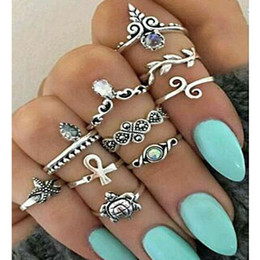 Wholesale Gold Filled Rings Mix - Vintage Midi Rings for Women Silver Gold Ring Band Christmas Gift Jewelry Bulk Price
