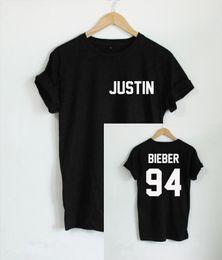 Wholesale Flash Age - Wholesale- 2016 Justin Bieber T Shirt Men Band Boy Tshirt Rock Hip Hop Short Sleeve Name And Age T-shirt Tumblr Clothing Tee Shirt Size 4XL