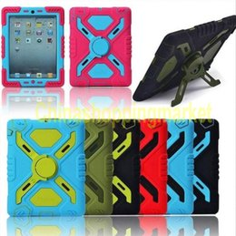 Wholesale Ipad Air Water Proof Case - Pepkoo Defender Military Spider Stand Water dirt shock Proof Case Cover Plastic + Silicone for ipad 2 3 4 iPad Air 2 air iPad Mini Retina