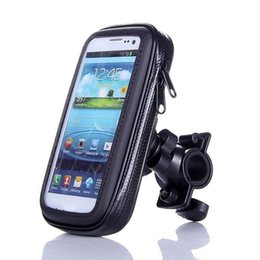 Wholesale Gps Bag Case - 2017 wholesale Motorcycle Phone Holder Mobile Phone Stand Support for iPhone 4 5S 6 Plus Off-road Riding GPS Holder with Waterproof Bag Case