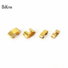 2019 ganchos de botão antigo BoYuTe 100 Pcs De Metal De Cobre De Bronze Em Forma de Fecho C Clips Fivela Conector Diy Acessórios Peças para Fazer Jóias